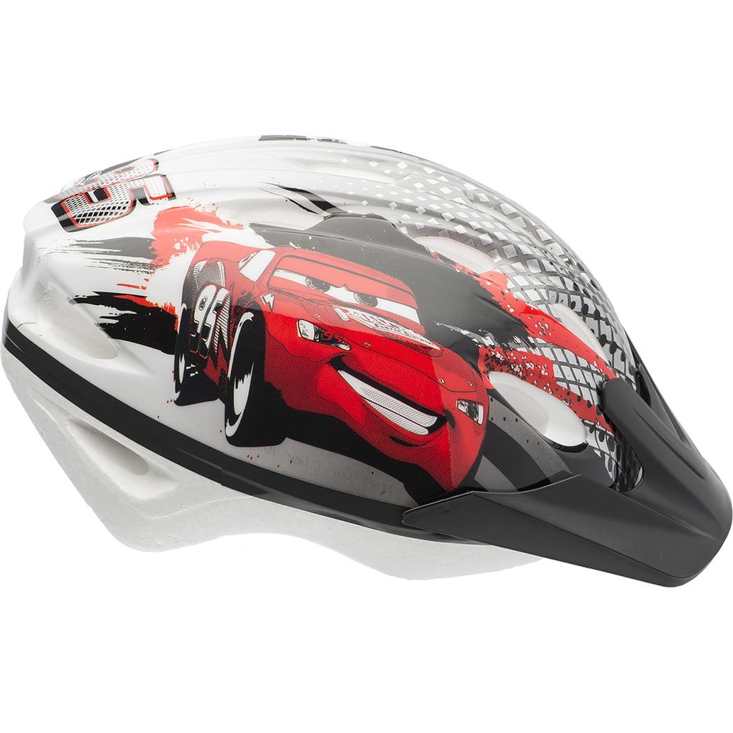 Bell Sports Disney Cars Titanium McQueen Child Helmet, Black/White