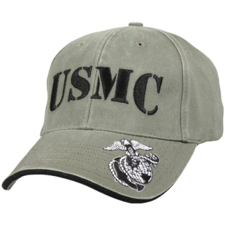 Vintage Olive Drab USMC Low Profile Baseball Cap