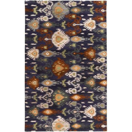 Surya Surroundings Charcoal/Light Gray Ikat and Suzani Area Rug