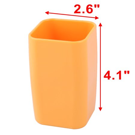 Bathroom Plastic Toothbrush Toothpaste Holder Tooth Cleaning Cup Orange 300ml - image 2 of 4