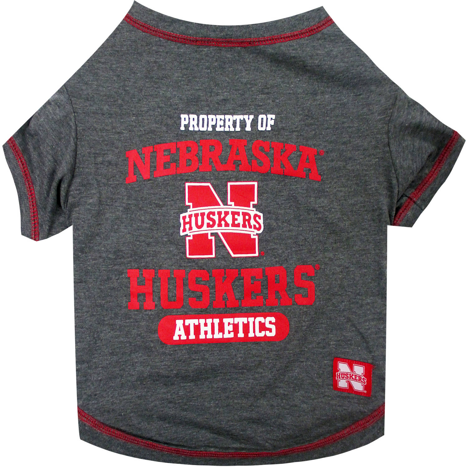 Pets First Collegiate Nebraska Huskers Pet T-shirt, Assorted Sizes