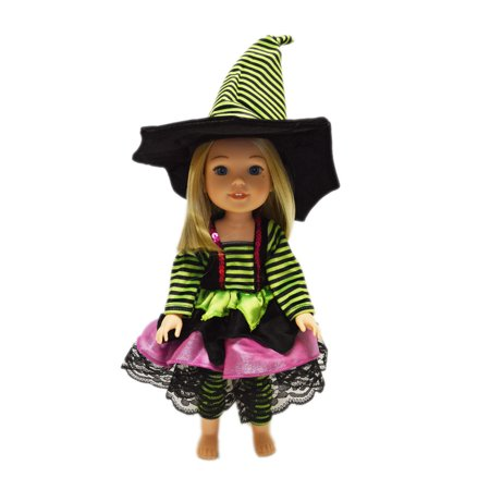 Halloween Witch Dolls Sale (My Brittany's Modern Witch Outfit For American Girl Dolls Wellie Wishers)