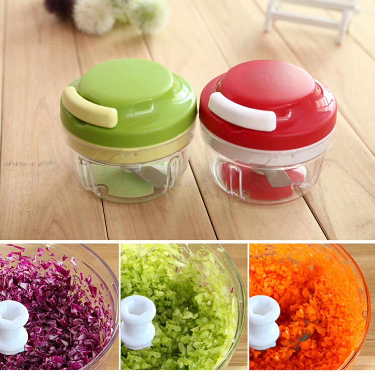 Kitchen Food Chopper Dicer Slicer Meat Cutter Mixer Salad Crusher Kitchen Gadget,红色... by