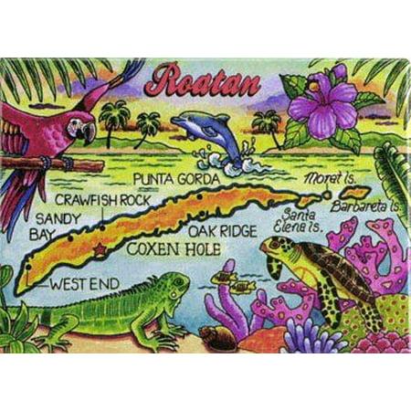 Roatan Caribbean Fridge Collector's Souvenir Magnet 2.5 inches X 3.5