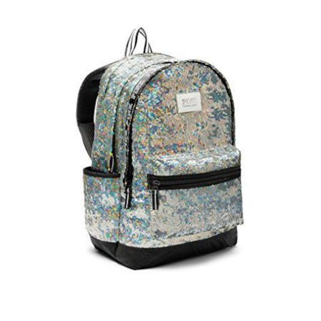 Victoria's Secret PINK Collegiate Campus School Backpack Iridescent Sequins - Sequin Pink Backpack