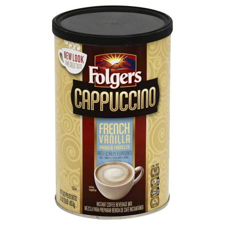 - (3 Pack) Folgers French Vanilla Cappuccino, 16 oz