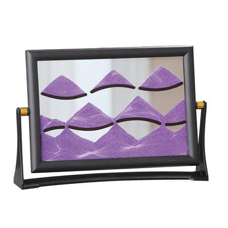 Tabletop Sandscape Desk Accessory Toy, Lavender