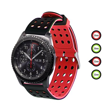 3/1 Pcs Watch Strap Fit for Galaxy Watch 42/46mm, Gear Sport, Gear S2/S3, Huawei Watch 2 Sport, Galaxy Watch Active, Silicone Quick Release Soft Rubber Replacement Band for Men and Women thumbnail
