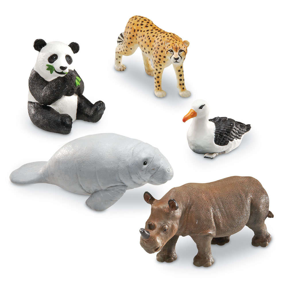 Learning Resources Jumbo Endangered Animals, Set of 5