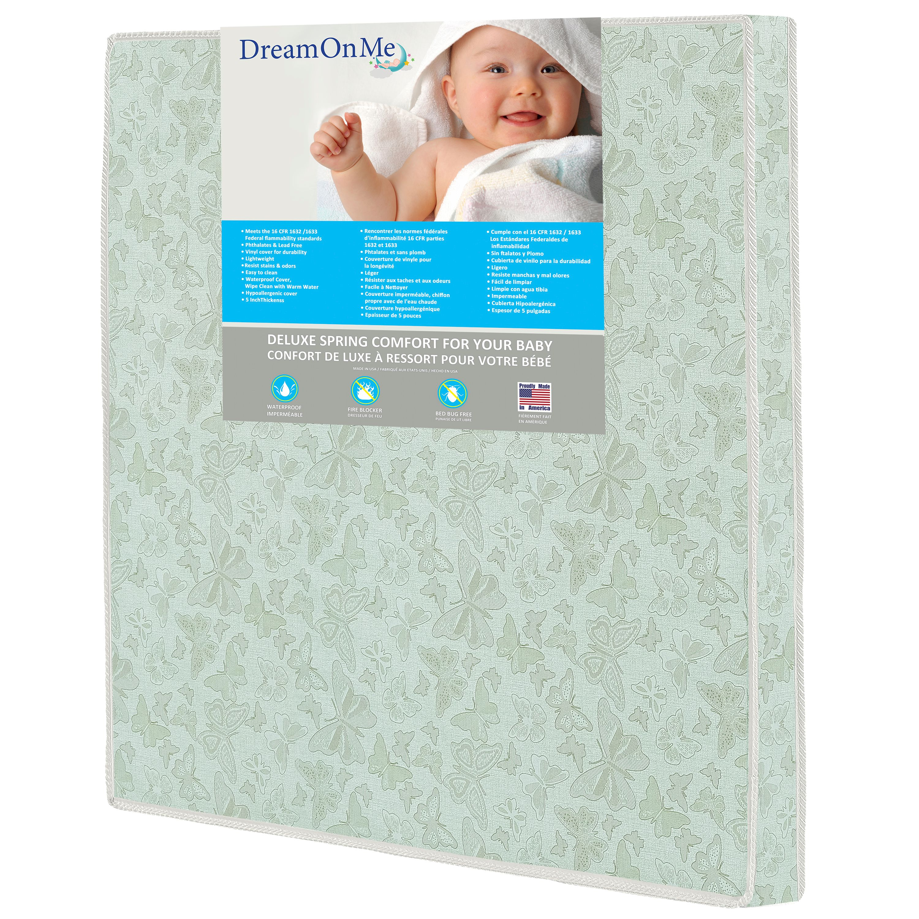 Dream On Me Totbloc Play Yard Firm Foam Mattress