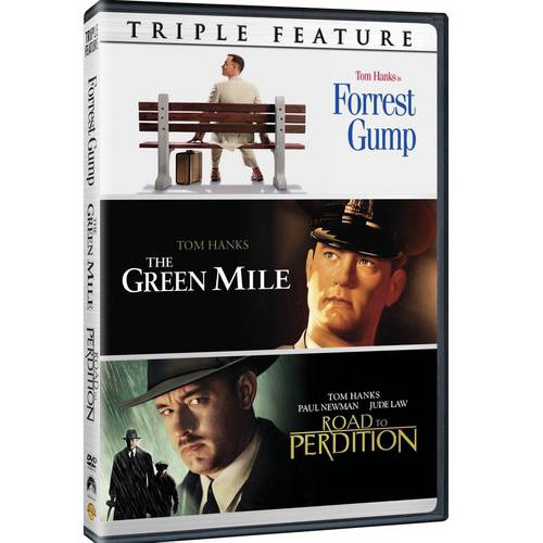 Tom Hanks Triple Feature: Forrest Gump / The Green Mile / Road To Perdition (DVD + Digital Copy) (With INSTAWATCH) (Walmart Exclusive))