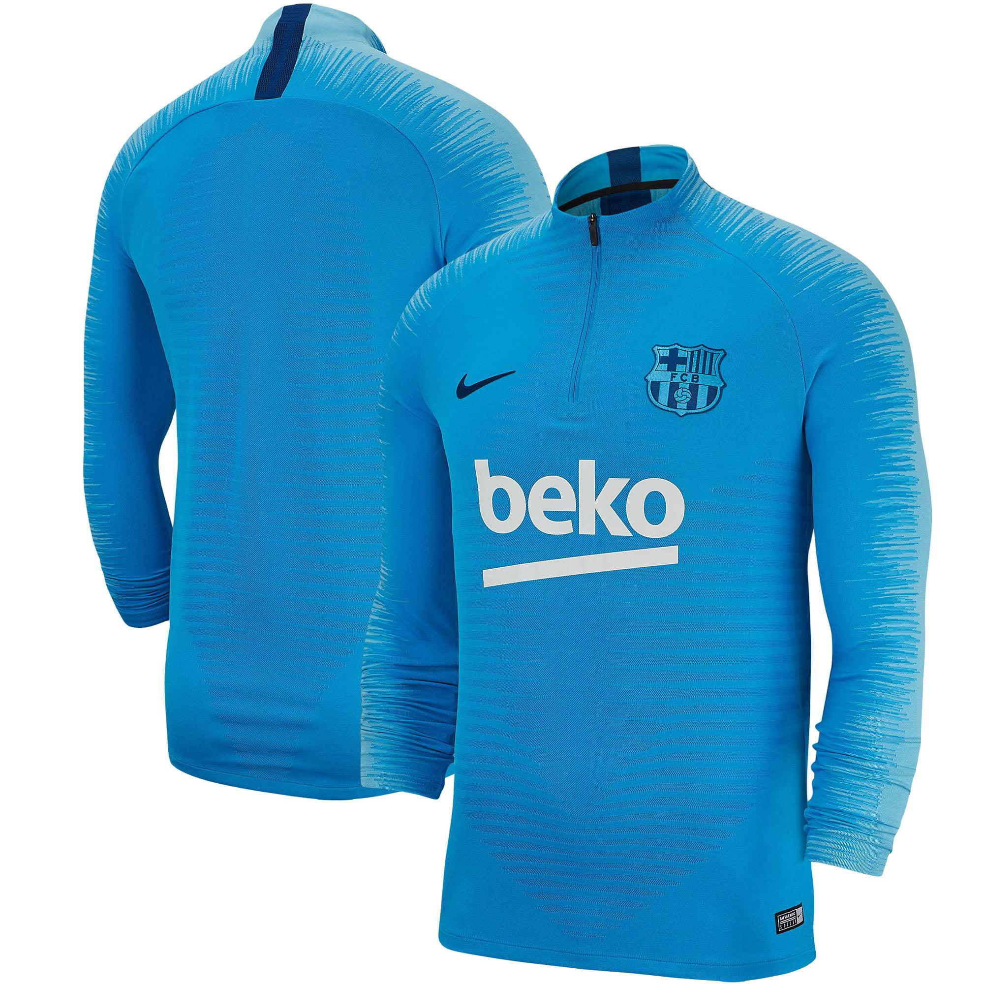 sports shoes 4260e a89aa Barcelona Nike Strike Drill Performance Quarter-Zip Pullover Jacket - Light  Blue
