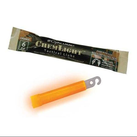 Cyalume Technologies 9 76300 Lightstick Orange 6 Hr  4 In  L Pk100