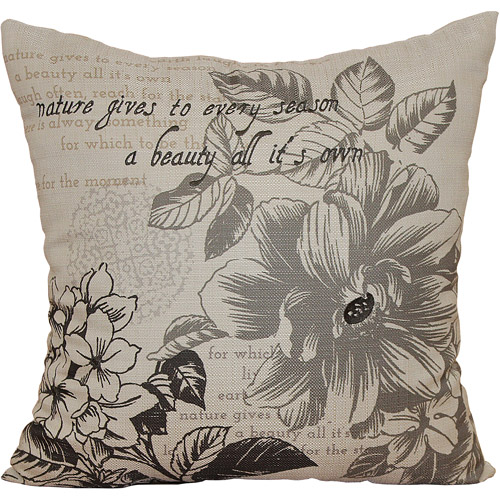 Better Homes and Gardens Floral Stamp Pillow