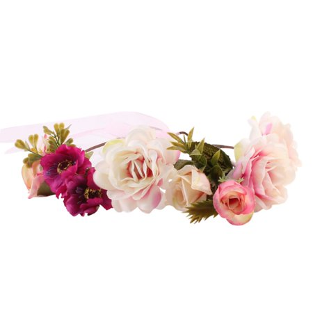 Tinymills Women Bohemia Handmade Flower Hairband Wedding Wreath Bridal