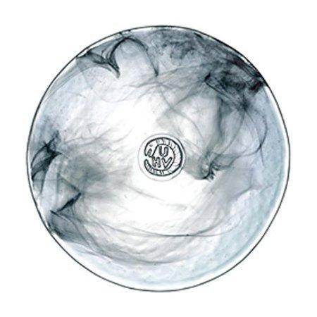 7-7/8-Inch Mine Plate, Black, Made in Sweden By Kosta Boda (Kosta Boda Flute)