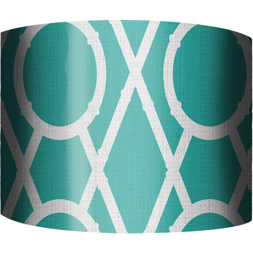 "12"" Drum Lampshade, X's and O's Blue by"