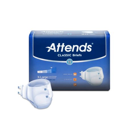 Attends Classic Incontinence Briefs, White, Large, 72 Ct Attends Youth Briefs