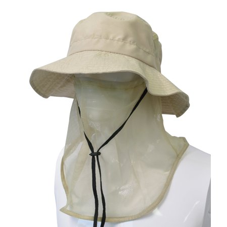 Cad Gun - Headshots Patented Unisex Outdoor Hiking Hunting Boating Fishing Safari Bucket Cap Sun Shade Hat with Anti-Mosquito Facemask