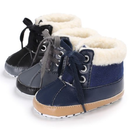 Newborn Toddler Shoes Baby Boy Ankle Snow Boots Crib Shoes Anti-slip