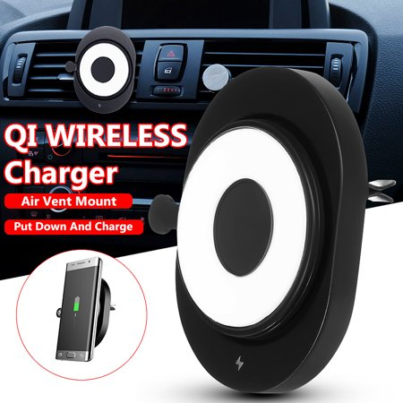 Qi Wireless Charging Pad Magnetic Car Mount for IOS Phone Android Smartphones All Qi-Enabled (Best Non Phone Android Device)