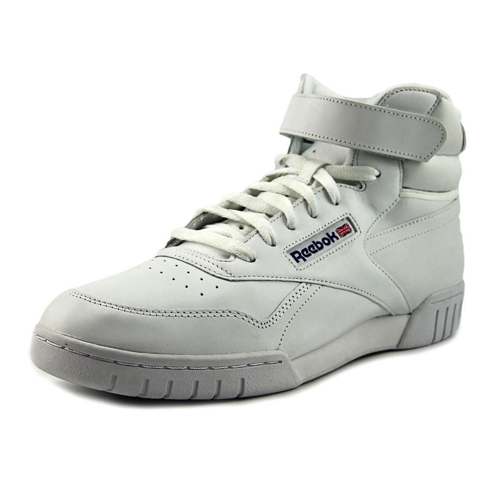 Reebok Ex-O-Fit Hi Men  Round Toe Synthetic White Sneakers