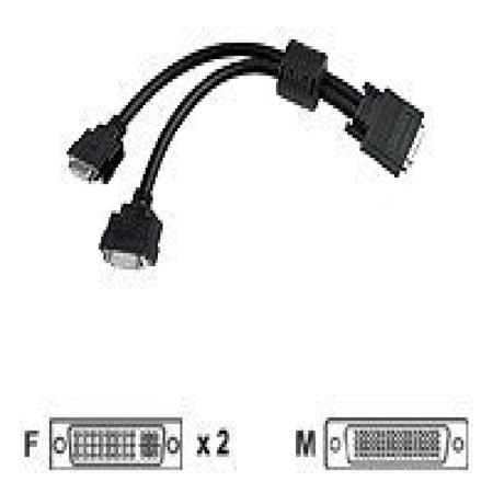 Matrox Cable Cab L60 2Xdf 1 Foot Lfh60 To Dvi Dual Monitor Adapter Cable Retail