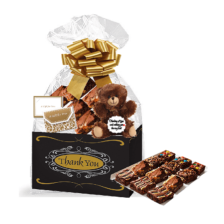 Thank You Gourmet Food Gift Basket Chocolate Brownie Variety Gift Pack Box (Individually Wrapped) (Chocolate Gift Basket)