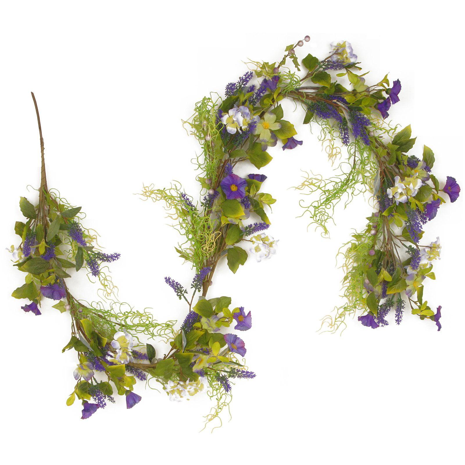 """72"""" Purple Flower Garland"""