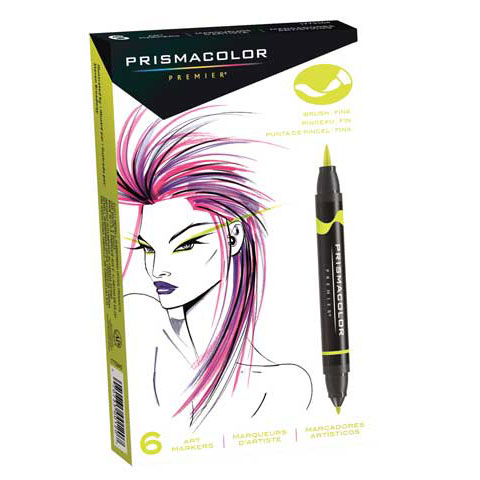 Prismacolor Premier 48 Double-Ended Art Markers, Fine and Brush Tip with Case