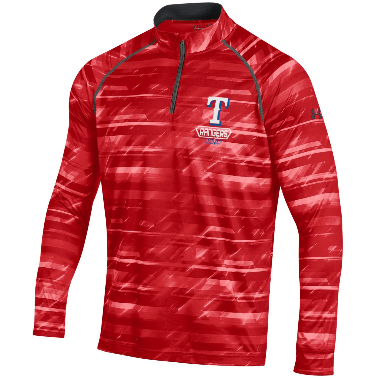 Texas Rangers Under Armour Tech Novelty Quarter-Zip Performance Pullover - Red