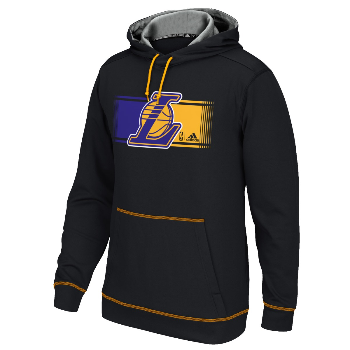 "Los Angeles Lakers Adidas 2015 NBA ""Tip-Off"" Men's Climawarm Hooded Sweatshirt"
