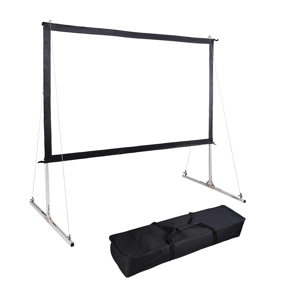 "Instahibit 120"" Portable Fast Folding Projector Screen 16:9 HD with Stand and Carry Bag for Indoor... by Yescom"