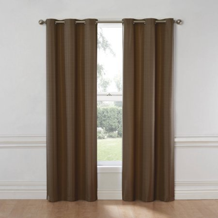 Eclipse Nottingham Thermal Energy-Efficient Grommet Curtain Panel (40x63, Chocolate) By Eclipse Curtains Ship from (Nottingham 2 Light)