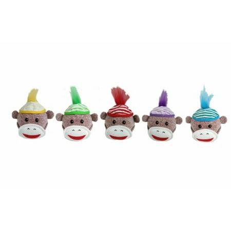 Multipet International 4 Sock Pal Monk Dog Toy 3 Pack