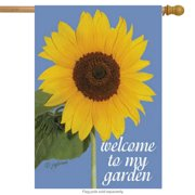 "Welcome Sunflowers Summer House Flag NCE 28"" x 40"""