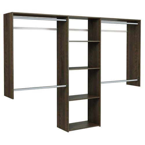 easy track deluxe 48 39 39 w 96 39 39 w shelving closet system. Black Bedroom Furniture Sets. Home Design Ideas