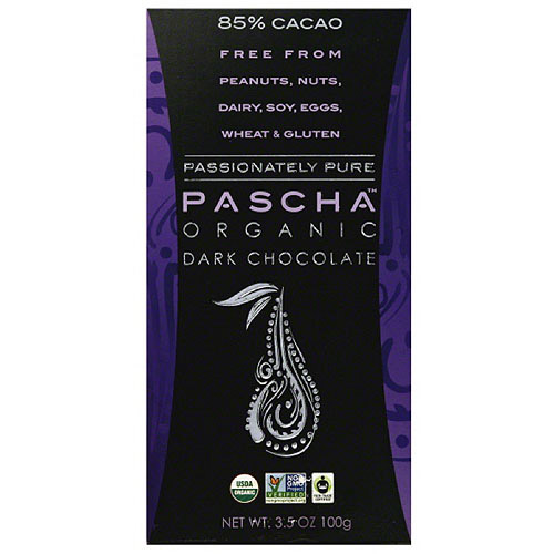 Pascha 85% Cacao Organic Dark Chocolate, 3.5 oz (Pack of 10)