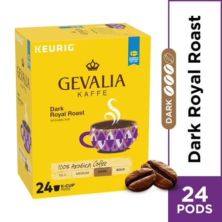 Gevalia Dark Royal Roast Coffee K Cup Coffee Pods, Caffeinated, 24 ct - 8.3 oz Box ()