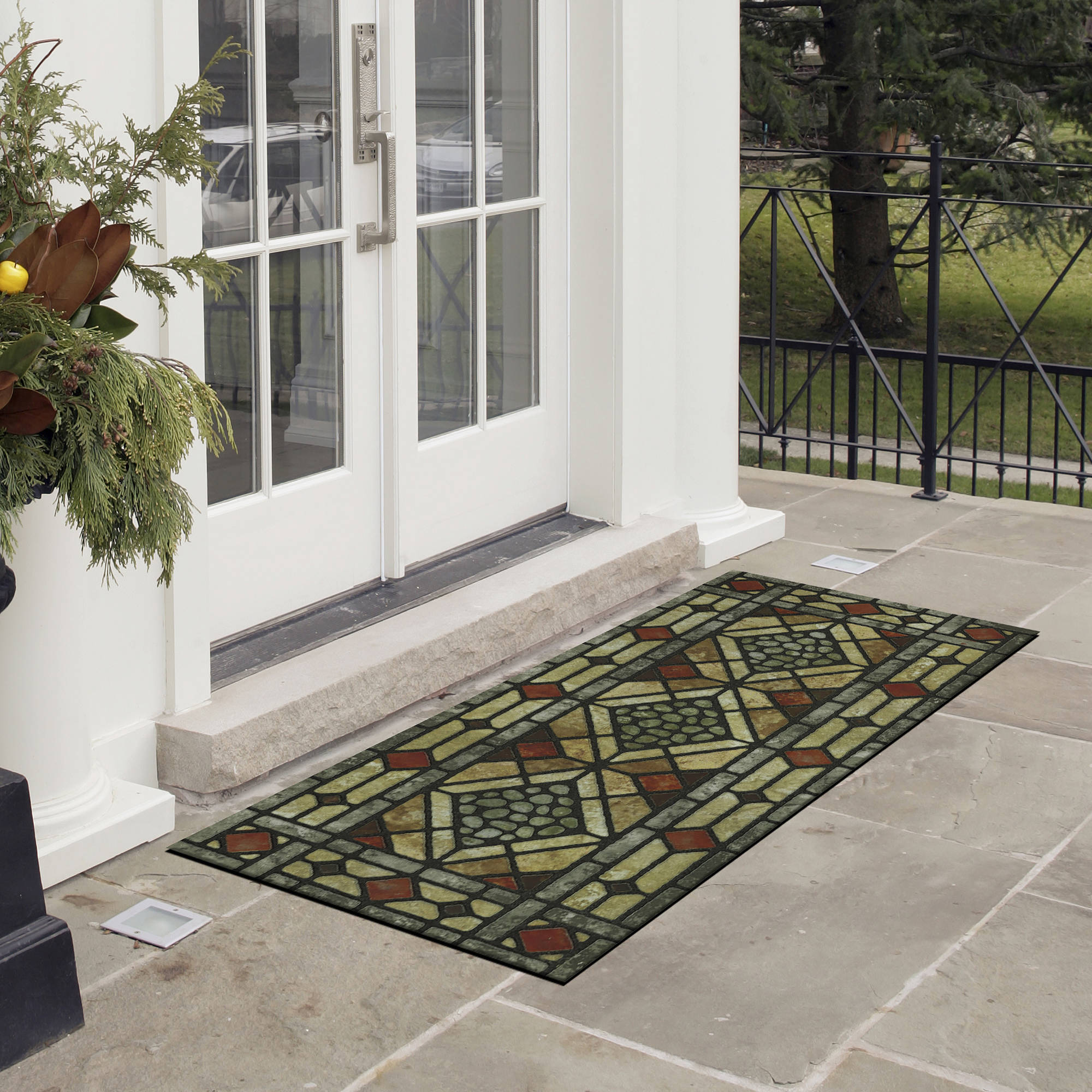 Mohawk Home West Gate Recycled Rubber Outdoor Mat, 1 Each ...