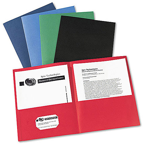 Avery 2-Pocket Portfolio, Assorted Colors, Box of 25