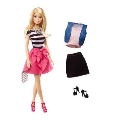 Barbie Doll Blonde Fashion Creations Blitz Gift Set