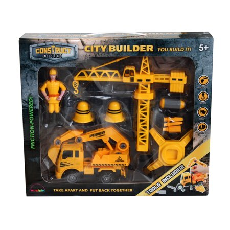 - Construct A Truck-City Builder Set-Excavator. Create a construction site+take the truck apart&put it back together+Friction powered(3-toys-in-1!)Awesome award winning set - encourages creativity!