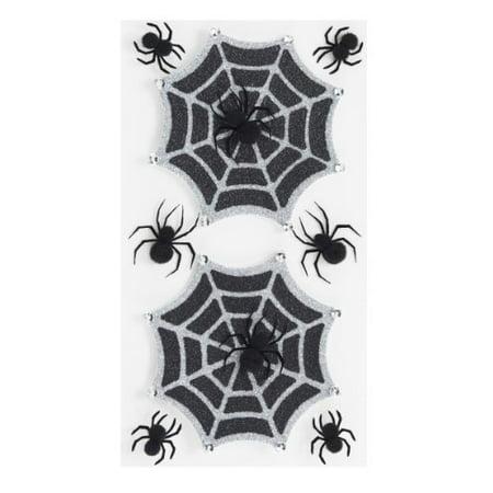 Jolee's Boutique Parcel Dimensional Stickers, Glitter Halloween Spiderwebs