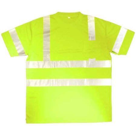 Cor-Brite Hi-Vis Lime Short Sleeve Shirt