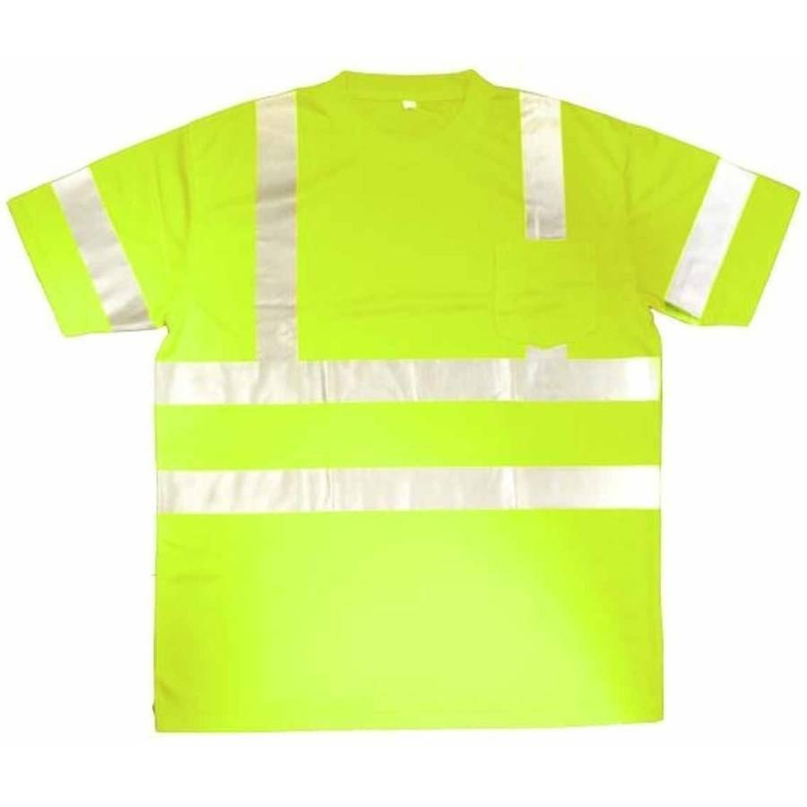 Cor-Brite Hi-Vis Lime Short Sleeve Shirt