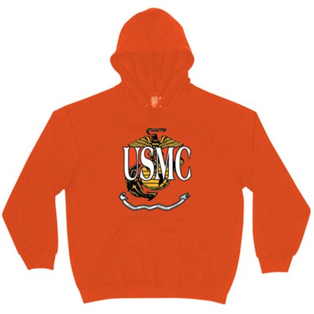 Fox Outdoor 64-853 XL Mens USMC With Logo Pullover Hoodie Sweatshirt, Red - Extra Large ()