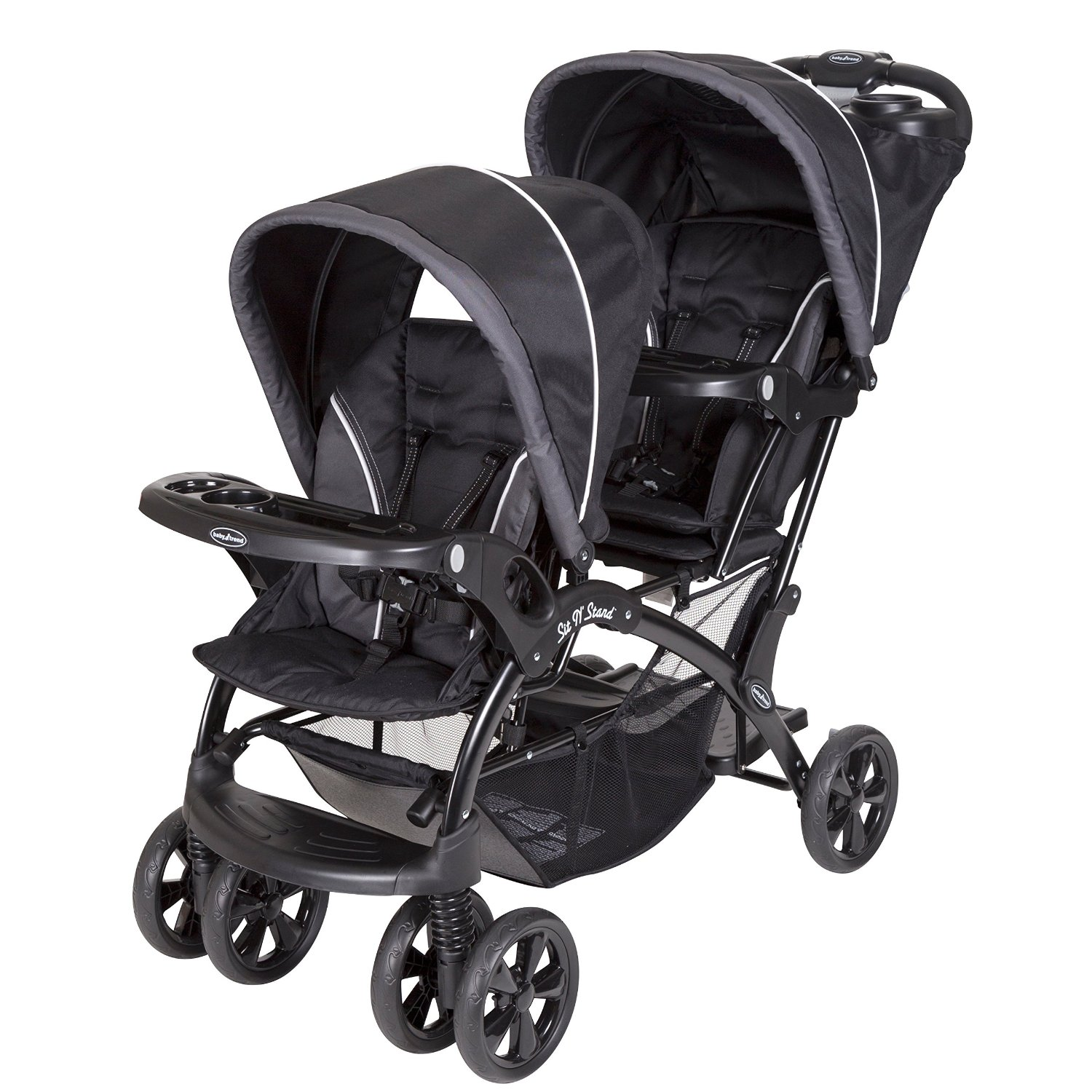 Baby Trend Sit N' Stand Double Stroller - Onyx