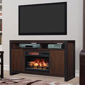 Costa Mesa 59 In Electric Fireplace Tv Stand In Antique Coffee