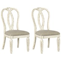 Signature Design by Ashley Realyn Dining Side Chair Set of 2 Chipped White